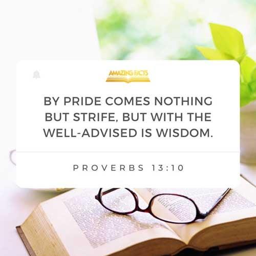 Proverbs 13:10