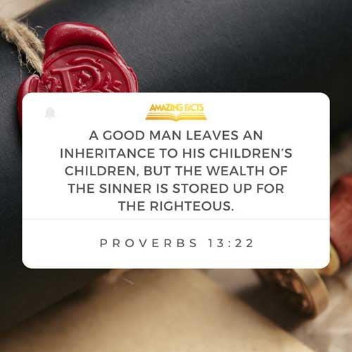 Proverbs 13:22
