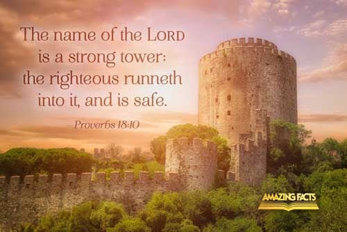 The name of the LORD is a strong tower: the righteous runneth into it, and is safe. 