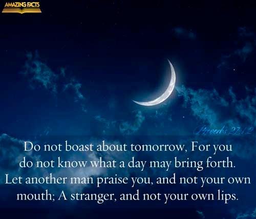 Proverbs 27:1-2