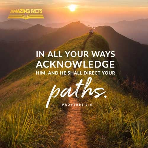 In all thy ways acknowledge him, and he shall direct thy paths. 
