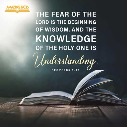 The fear of the LORD is the beginning of wisdom: and the knowledge of the holy is understanding. 