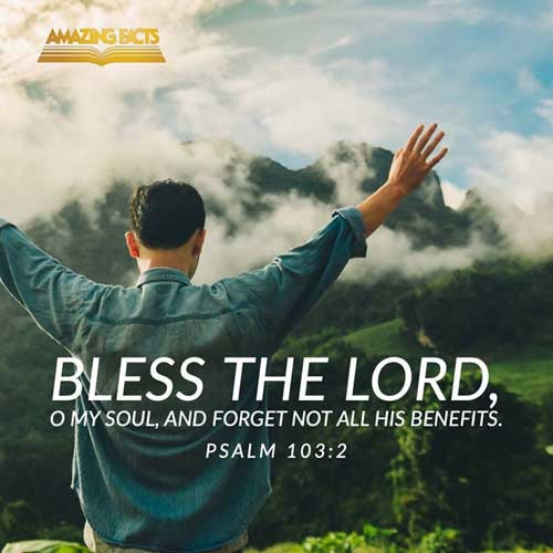 Bless the LORD, O my soul, and forget not all his benefits: 