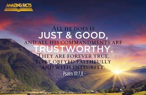 Psalms 111:7-8