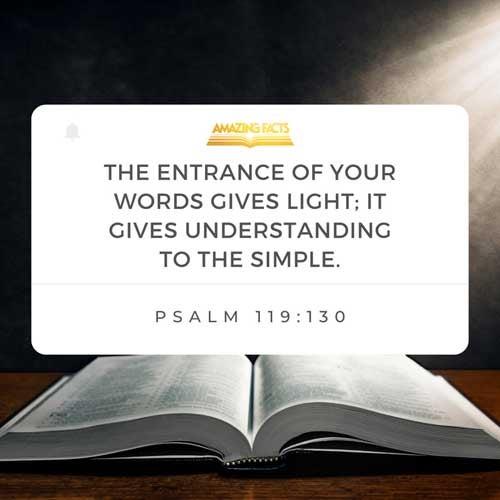 Psalms 119:130