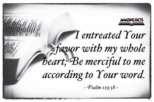 I intreated thy favour with my whole heart: be merciful unto me according to thy word. 