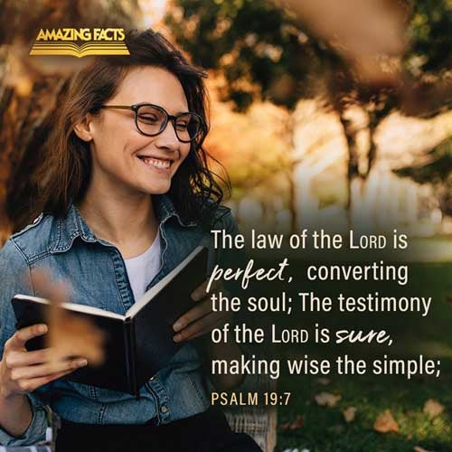 The law of the LORD is perfect, converting the soul: the testimony of the LORD is sure, making wise the simple. 