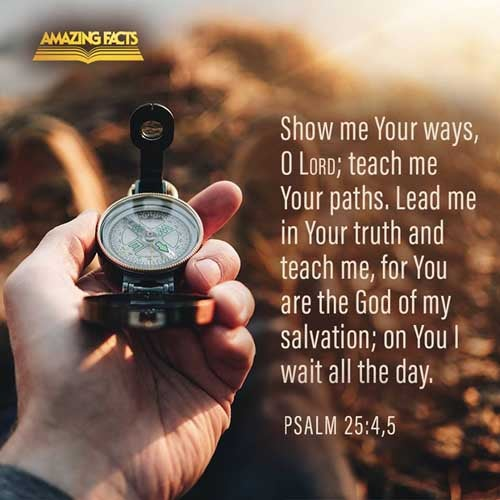 Shew me thy ways, O LORD; teach me thy paths.  Lead me in thy truth, and teach me: for thou art the God of my salvation; on thee do I wait all the day. 