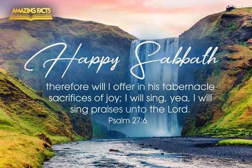 And now shall mine head be lifted up above mine enemies round about me: therefore will I offer in his tabernacle sacrifices of joy; I will sing, yea, I will sing praises unto the LORD. 