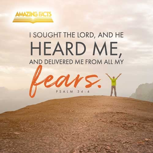 I sought the LORD, and he heard me, and delivered me from all my fears. 