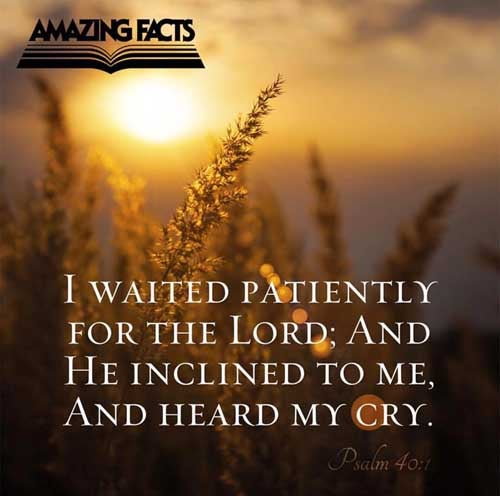 I waited patiently for the LORD; and he inclined unto me, and heard my cry. 