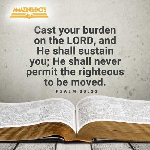 Cast thy burden upon the LORD, and he shall sustain thee: he shall never suffer the righteous to be moved. 