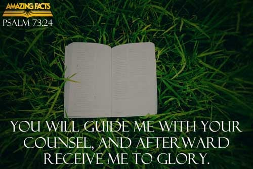 Thou shalt guide me with thy counsel, and afterward receive me to glory. 