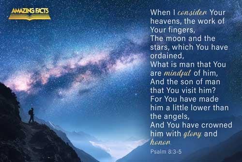 Psalms 8:3-5