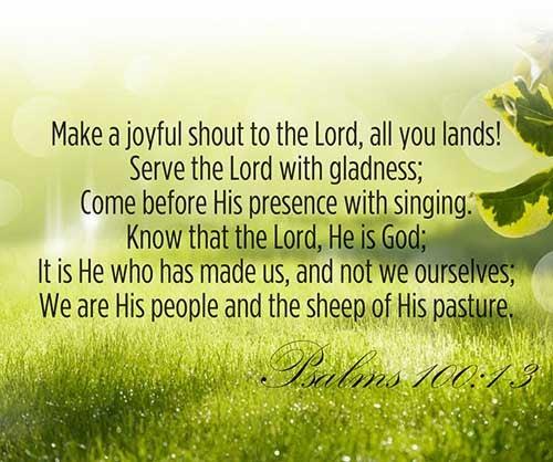 Psalms 100:1-3