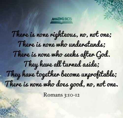 Romans 3:10-12