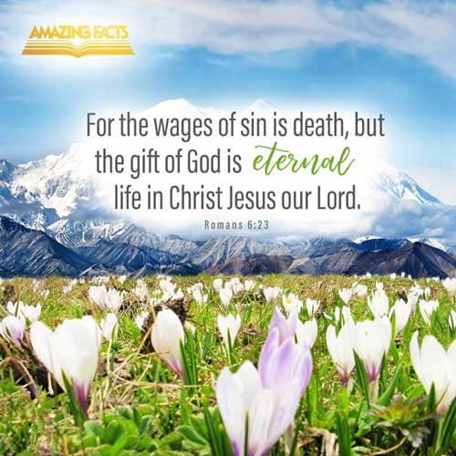 For the wages of sin is death; but the gift of God is eternal life through Jesus Christ our Lord. Romans 6:23