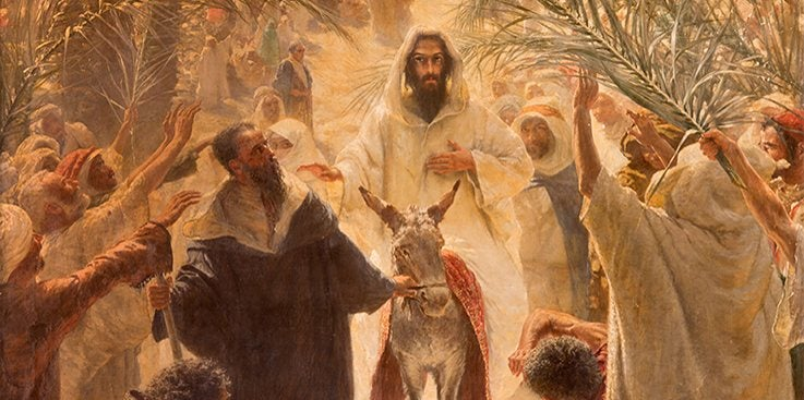 Entered Jerusalem on a donkey