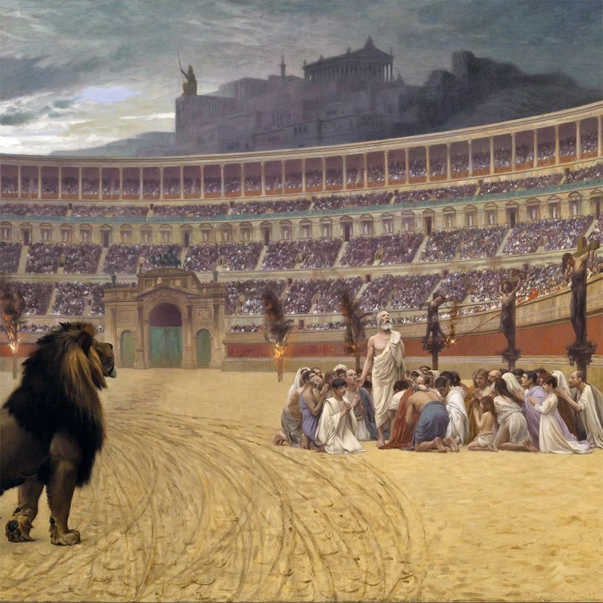 Christians cast to the lions