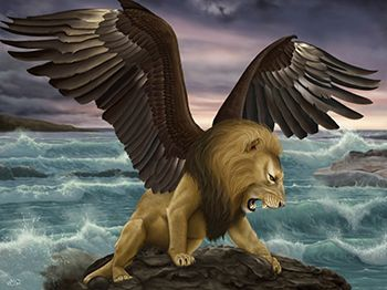 Lion with eagle's wings