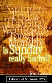¿Es realmente Sagrado el Domingo?