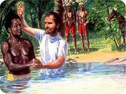 6. ピリポはエチオピアの宦官に、どのようなバプテスマを授けましたか?