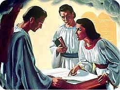 5. 聖人たちは千年期の間、どこで何をしているのですか?