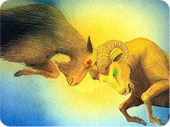 2. 次にダニエルは、額に大きな1本の角の生えた雄山羊を見ました。これは何を表していますか?
