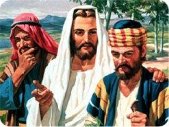 15. イエスがエマオへの途上で2人の落胆した弟子に聖書を説明されたとき、どんなことが起こりましたか?