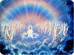 5. イエスが雲に乗って戻られるとき、だれがお供をしますか?