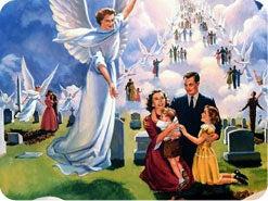 14. イエスの再臨の際に、天使たちはどんなことをするのですか?