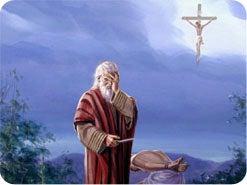 1. イサクの代わりにささげられた動物は、だれを象徴しているのですか?