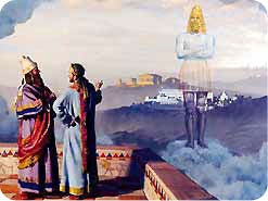 5.   What two objects did Daniel say the king saw in his dream?