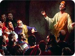 ١٦ . بعد أن عرف التلميذان  أن يسوع حي، وسمعاه يفسر النبوّات، ماذا فعلوا؟