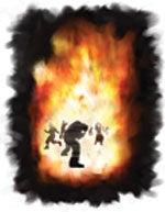 Ilden som faller fra himmelen for å ødelegge de ugudelige, tilintetgjør både kropp og sjel.