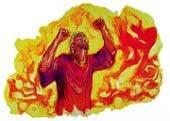 A bűnösök a világ végén − és nem akkor, amikor meghalnak − vettetnek a pokol tüzébe.