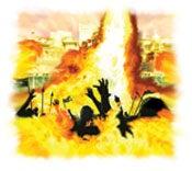 Cuando los impíos de todas las épocas rodeen la ciudad santa, Dios los destruirá con un fuego que hará descender del cielo. .