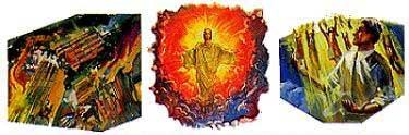 Jézus második eljövetelekor pusztító földrengés és jégeső fogja sújtani a földet. Ekkor a különböző korokban élt igazak mind fel fognak támadni és felvitetnek Jézus elé a levegőbe.