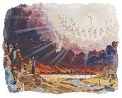 当人人都听到末世信息后,耶稣就会降临,接祂的子民回归天家。