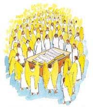 上帝的查案审判在众天军的见证下进行。