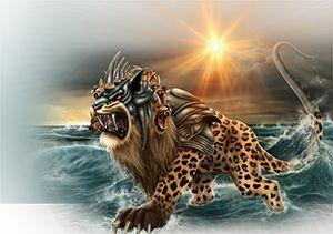 The beast of Revelation 13:1-10 symbolizes the papacy.