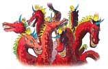 ഏഴു മലകളിന്മേല് പണിയപ്പെട്ട റോമിനെയാണ് എഴുതലകുറിക്കുന്നത്. ഭൂമിയിലെ 10 രാജ്യങ്ങളെയാണ് 10 കൊമ്പുകള് സൂചിപ്പിക്കുന്നത്.