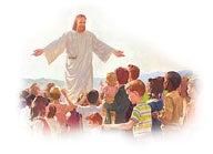 Jesus älskar människorna på jorden med en evig kärlek.