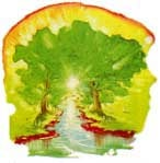 Heaven's fantastic tree of life brings unending life and youth to all who eat of it.