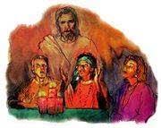 Ceea ce pare a fi Isus într-o cameră de întrunire, este de fapt un demon ce joacă acest rol.