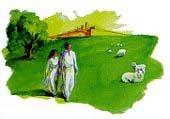 耶稣领祂的子民到天国,复原亚当夏娃所失去的一切。