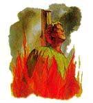 数以百万计的基督徒死于黑暗时代。许多人被活活烧死。