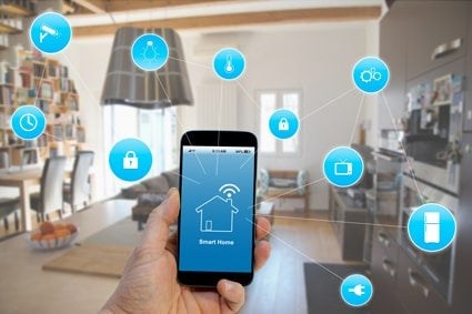 Mobile phone in a smart home