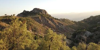 Zagros mountains in Iran