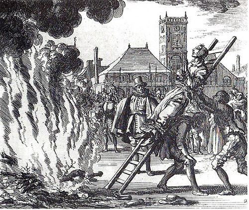 The burning of a heretic